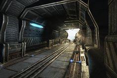 Sci Fi corridor destroyed by ~Mellon3D on deviantART