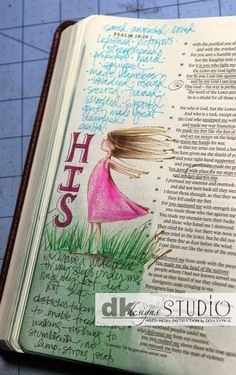 Mama Dini's Stamperia: Bible Journaling - getting started and what type of dry media to use on thin paper.