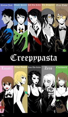Fancy Creepypastas..I like how Toby is holding Clockwork's hand..i totally ship TicciWork