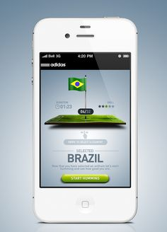 Adidas iPhone App UI (User Interface Design) To find out more contact us at contact@wrca.co.uk