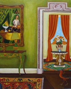 The Artist's Interior-Original painting, painting by artist Catherine Nolin