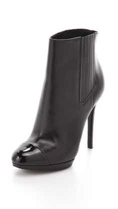 B Brian Atwood Cap Toe Booties...want these.
