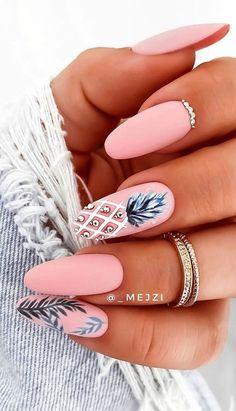 Chic Nails, Stylish Nails, Swag Nails, Speing Nails, Elegant Nails, Jamberry Nails, Trendy Nails, Pineapple Nails, Pineapple Nail Design