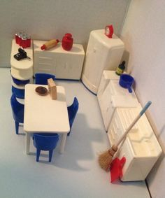 27 Best Vintage Plastic Dollhouse Furniture Images Retro Toys