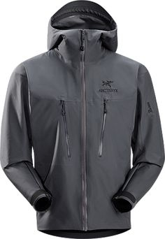 0d56569b6 Arcteryx Alpha LT Jacket: Exceptionally lightweight, durable and fully  waterproof jacket for all alpinist sports; ideal for use with a climbing  harness.
