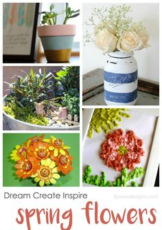 Dream Create Inspire: Spring Flowers - crafts and displays to inspire you this spring! Craft Projects For Adults, Diy Crafts For Teens, Crafts For Kids To Make, Creative Crafts, Diy Crafts For Kids, Easy Crafts, Popular Crafts, Spring Party, Romantic Flowers