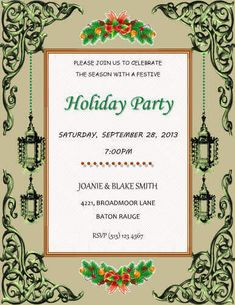 Free invitation template by hloom party ideas christamas free invitation template by hloom stopboris