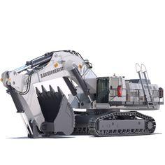 Mining Excavator Liebherr R9150 3D Model - 3D Model