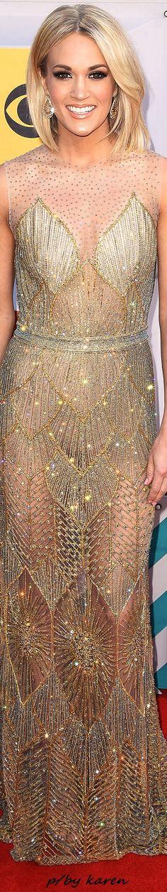 Diamond Cowgirl ~ Carrie Underwood in Davidson Zanine - CMA Awards 2016