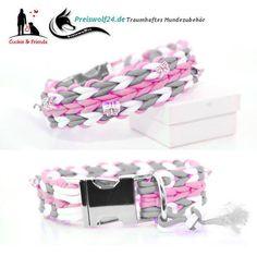 Paracord Hundehalsband wahlweise mit Hundeleine Handgemacht wunderschöne tolle Farben sehr viele Varianten Ein Teil der Einnahmen geht an Hunde in Not aus Rumänien