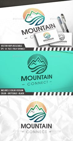 Digital Mountain Logo - 3d Abstract Download here: https://graphicriver.net/item/digital-mountain-logo/20126366?ref=classicdesignp