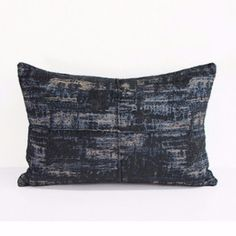 "PRODUCT Decorative Pillow DIMENSIONS 14"" X 20"" PILLOW COVER Blue/Black/White; 100% Polyester; PILLOW INSERT Inserts are available from the most commonly used Polyester to Luxury Synthetic Down and Down Feather insert. All inserts are 100% made in the USA with the best quality guaranteed PACKAGING Pillow Cover is packaged with either transparent plastic packaging bag or tissue paper sheet; Pillow Insert is packed with plastic bag SHIPPING INFORMATION Product ships out within 48 hours of re..."