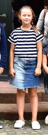 Princesse Isabella, 8 aout 2017, Visite du musée de Faaborg à l'occasion de la croisière sur le Dannebrog (Danemark)