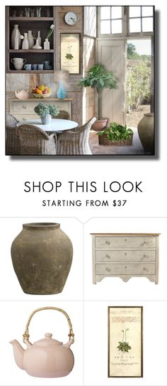 """""""Dining Room #15"""" by sally-simpson ❤ liked on Polyvore featuring interior, interiors, interior design, home, home decor, interior decorating, Crate and Barrel, Bloomingville, Natural Curiosities and Universal Lighting and Decor"""