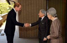 Prince William: Japan Day 2: Prince William will be warmly welcomed by Emperor Akihito and Empress Michiko in front of the imperial palace.