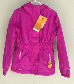 Champion Jacket Hooded Rain Purple Girls Size s 6-6X Hoodie Water Resistant New #Champion #RainGear #Everyday