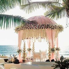 You are your daddy princess and you deserve that extraordinary Barbie wedding. Goa Wedding, Outdoor Indian Wedding, Wedding Mandap, Wedding Receptions, Trendy Wedding, Indian Wedding Theme, Wedding List, Church Wedding, Wedding Groom