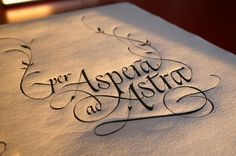 Per aspera ad astra - what my first tattoo is going to say (though not in this style... less cursive-y than this)