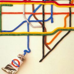 London tube map in a tube