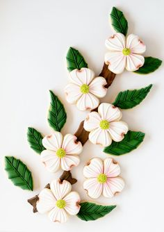 It's spring so let's make delightful dogwood cookies! These are simple cookies to make and this tutorial will show you how to make them! Pink Dogwood, Dogwood Flowers, Flower Petals, Pink Flowers, Mother's Day Cookies, Crazy Cookies, Fancy Cookies, Flower Sugar Cookies, Royal Icing Transfers