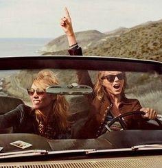 bffs x road trip :: Karlie Kloss x Taylor Swift for Vogue, March 2015 Karlie Kloss Taylor Swift, Taylor Alison Swift, Live Taylor, Claudia Schiffer, Bffs, Brave, Stella Forest, Photos Bff, Squad Photos