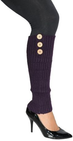 Womens Leg warmers with Three Accent Buttons - 8 colors $9.99 (save $10.00) + Free Shipping