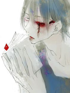Like Tokyo Ghoul. Anime Guys Shirtless, Hot Anime Guys, Sad Anime, Anime Art, Creepy, Scary, Ero Guro, Dark Pictures, Fantasy Warrior