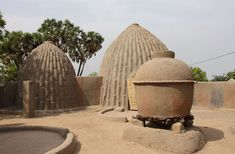 Musgum Dwellings Musgum dwellings by the ethnic Musgum people in Cameroon are traditional domestic structures built of compressed sun-dried mud. Samba, Africa, Architecture, Centre, Arquitetura, Architecture Illustrations, Afro, Architecture Design, Architects