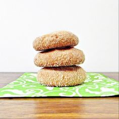 Snickerdoodles. These little cookies are soft, naturally sweet  and perfect to snack on. Gluten-Free and Vegan.