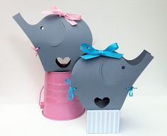 Adorable elephant gift boxes from My Paper Planet