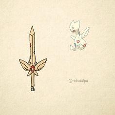 No. 176 - Togetic. #pokemon #togetic #sword #pokeapon