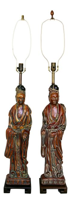 Asian Home Decor, really exciting image, research the post reference 1627536580 today. Frederick Cooper, Orange House, Asian Home Decor, Mid Century Decor, Vintage Lamps, Hollywood Regency, Chinoiserie, Carving, Statue