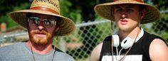 Canyon Prince and James Thomas on the set of Hard Sun