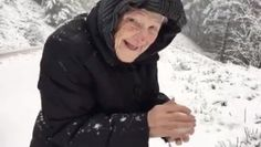Video of this 101-year-old woman playing in the snow goes viral   Good News - Yahoo News Canada