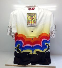 MAMBO LOUD Mens Shirt Size M Rainbow Surf Design Rare New Old Stock With Tags Vintage Clothing, Vintage Outfits, Surf Design, Surfing, Rainbow, Tags, Shirts, Men, Clothes