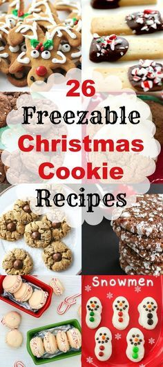 26 Freezable Christmas Cookie Recipes, make ahead Christmas cookies. When it is time to serve or make up gifts, I have a huge variety to choose from and so will you now with 26 Freezable Christmas Cookie Recipes, perfect for the holidays! Christmas Snacks, Xmas Food, Christmas Cooking, Christmas Goodies, Christmas Candy, Christmas Ideas, Christmas Holidays, Christmas Parties, Holiday Cookies