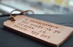 DIY Leather Luggage Tag — and 14 other handmade gifts men would love.