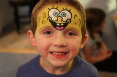 Spongebob Squarepants Face Paint idea
