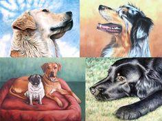IHR+HUND+als+gemaltes+PORTRÄT!+von+Arts+&+Dogs+by+Nicole+Zeug+auf+DaWanda.com