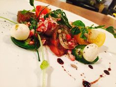 Tomato and sunflower salad at Characters Restuarant.  RESERVE YOUR TABLE TODAY! http://www.characters.ca/ https://www.facebook.com/pages/Characters-Restaurant/149414468402902 https://twitter.com/CharactersFood https://www.youtube.com/user/CharactersFood