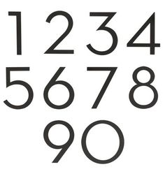 "4"" Modern House Numbers Flat Black C0655"