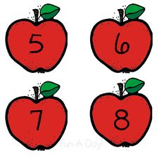 apple number activity that includes a free printable