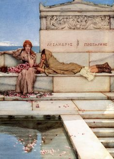 Sir Lawrence Alma-Tadema (Sir Lawrence Alma Tadema): Xanthe and Phaon