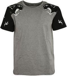 f9b8f645b Valentino Panther Sleeve T-shirt Panther