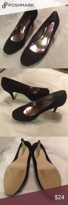 Sale! Madden Nubuck Black Heels EUC! No damage or wear and tear! Toe is squared off at the tip. Made from super soft, suede-like material. 3 1/2 inch heel Madden Girl Shoes Heels