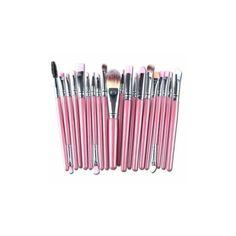 20Pcs Pink Handle Wool Brush Set Facial Makeup Power Blush brushes ($7.05) ❤ liked on Polyvore featuring beauty products, makeup, makeup tools, makeup brushes, white, blush brush, blush makeup brush, set of makeup brushes and set of brushes