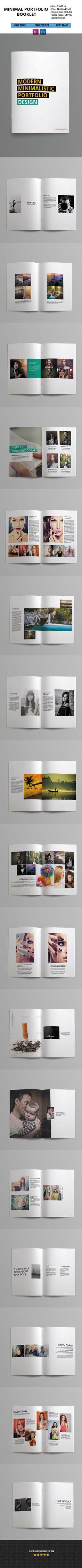 Minimal Portfolio Booklet on Behance Booklet Template, Booklet Design, Brochure Design, Brochure Template, Portfolio Booklet, Portfolio Layout, Portfolio Design, Media Design, Ad Design