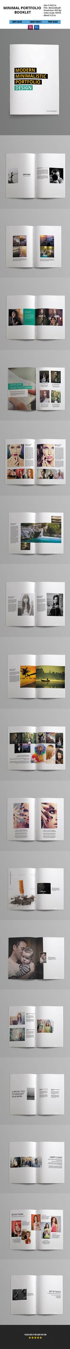 Minimal Portfolio Booklet on Behance