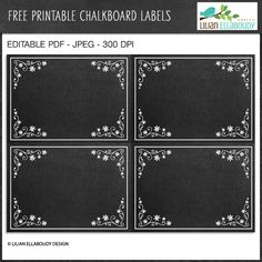 Free Editable Chalkboard Labels - great for organizational projects.