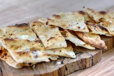 Traditional pita with cheese from the wood oven @Fuoco